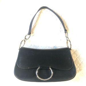 Stuart Weitzman black purse w silver hardware